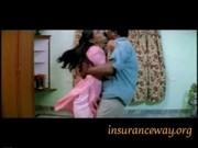 Hot Girl Enjoyed on Bed in Bra Navel Kiss Groping