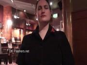 Upskirts masturbation in public restaurant of chubby amateur voyeur babe Alyss