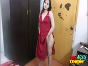 indian hot sexy wife sonia stripping naked exposing her bigtits