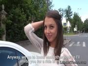 Beautiful Russian teen anal fucked POV outdoor