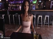 sexy black babe fucks in the pub