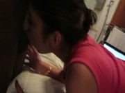 home made mixed teen girlfriend sucking my dick