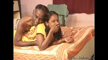 India sweet teen Blowjob his old man